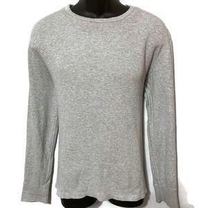J. Crew Men's Gray Thermal Long Sleeve Shirt